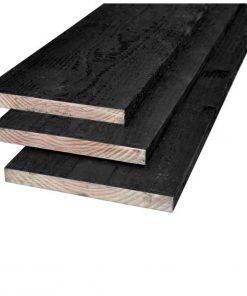 Douglas plank zwart 22 x 200 mm