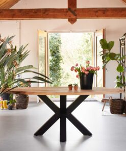Eiken tafelblad ovaal 200 x 110